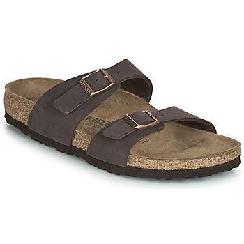 Sapatos Mulher Chinelos Birkenstock SYDNEY Castanho