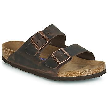 Sapatos Homem Chinelos Birkenstock ARIZONA SFB Castanho