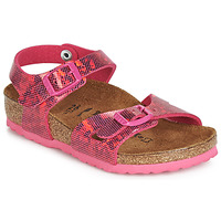 Sapatos Rapariga Sandálias Birkenstock RIO Rosa