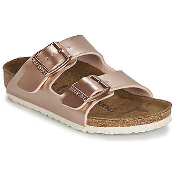 Sapatos Rapariga Chinelos Birkenstock ARIZONA Ouro