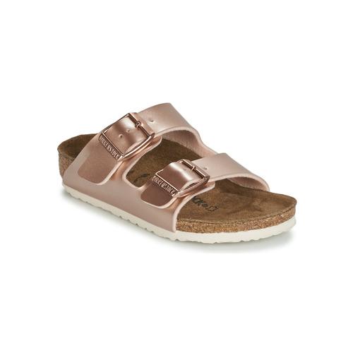 Sapatos Rapariga Chinelos Birkenstock ARIZONA Ouro