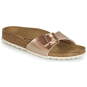 Sapatos Mulher Chinelos Birkenstock MADRID Rosa / Ouro
