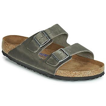Sapatos Homem Chinelos Birkenstock ARIZONA SFB Cinza