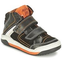Sapatos Rapaz Sapatilhas de cano-alto Primigi MOTT Preto / Laranja
