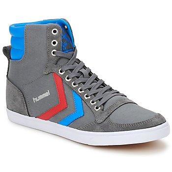 Sapatos Sapatilhas de cano-alto Hummel TEN STAR HIGH CANVAS Cinza / Azul / Vermelho