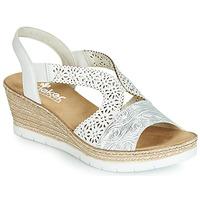 Sapatos Mulher Sandálias Rieker PASCALINE Branco