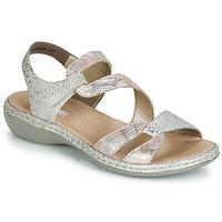 Sapatos Mulher Sandálias Rieker AMAZU Prata