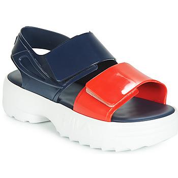 Sapatos Mulher Sandálias Melissa SANDAL + FILA Marinho / Vermelho / Branco