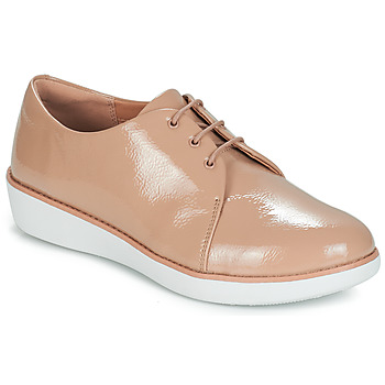 Sapatos Mulher Sapatos FitFlop DERBY CRINKLE PATENT Toupeira