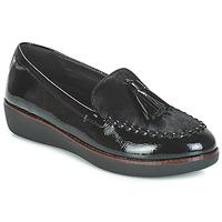 Sapatos Mulher Mocassins FitFlop PAIGE FAUX-PONY Preto
