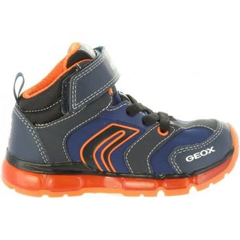 Sapatos Rapaz Sapatilhas de cano-alto Geox J8444B 011CE J ANDROID Azul