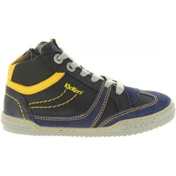 Sapatos Criança Sapatilhas de cano-alto Kickers 661470-30 JIROMA Azul