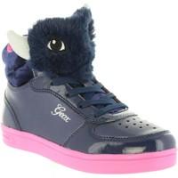 Sapatos Rapariga Sapatilhas de cano-alto Geox J844ME 0AJ02 J DJROCK Azul