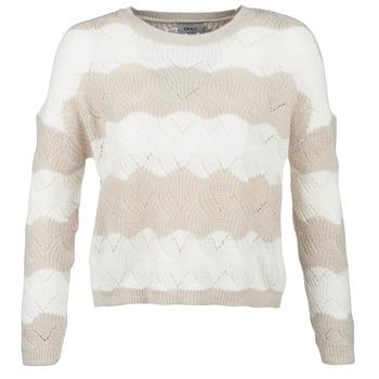 Textil Mulher camisolas Only ONLKARO Bege / Cru
