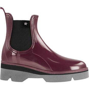Sapatos Mulher Botas de borracha Cubanas Galochas Derby210 Bordeuax Ouro