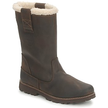 Sapatos Rapariga Botas Timberland 8 IN PULL ON WP BOOT WITH SHEARLING Castanho / Escuro