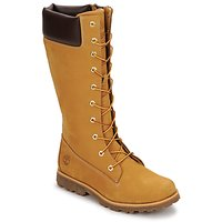Sapatos Criança Botas Timberland GIRLS CLASSIC TALL LACE UP WITH SIDE ZIP Conhaque