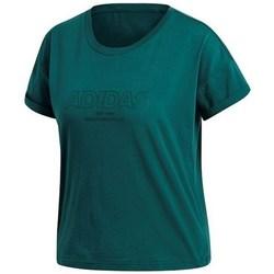 Textil Mulher T-Shirt mangas curtas adidas Originals Ess Allcap Tee Verde