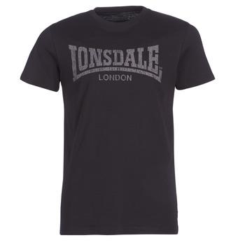 Textil Homem T-Shirt mangas curtas Lonsdale LOGO KAI Preto