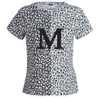 Textil Mulher T-Shirt mangas curtas Marciano RUNNING WILD Preto / Branco