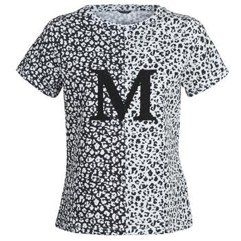Textil Mulher T-Shirt mangas curtas Marciano RUNNING WILD Preto / Branco