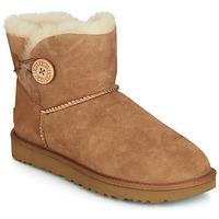 Sapatos Mulher Botas baixas UGG MINI BAILEY BUTTON II Camel