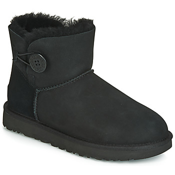 Sapatos Mulher Botas baixas UGG MINI BAILEY BUTTON II Preto