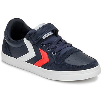 Sapatos Criança Sapatilhas Hummel SLIMMER STADIL LEATHER LOW JR Azul