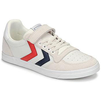 Sapatos Criança Sapatilhas Hummel SLIMMER STADIL LEATHER LOW JR Branco