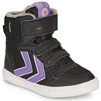 Sapatos Rapariga Sapatilhas de cano-alto Hummel STADIL POLY BOOT MID JR Preto