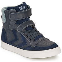 Sapatos Criança Sapatilhas de cano-alto Hummel STADIL WINTER HIGH JR Azul