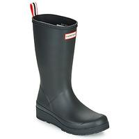 Sapatos Mulher Botas de borracha Hunter ORIGINAL PLAY BOOT TALL Preto