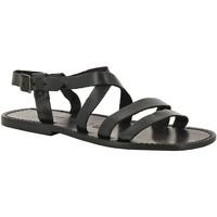 Sapatos Homem Sandálias Gianluca - L'artigiano Del Cuoio 531 U NERO CUOIO nero