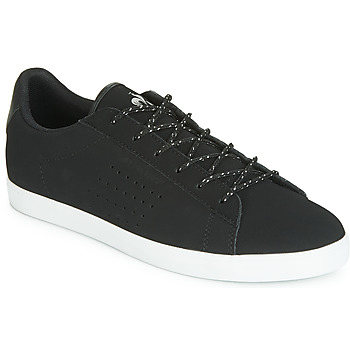 Sapatos Mulher Sapatilhas Le Coq Sportif AGATE NUBUCK Preto / Prateado