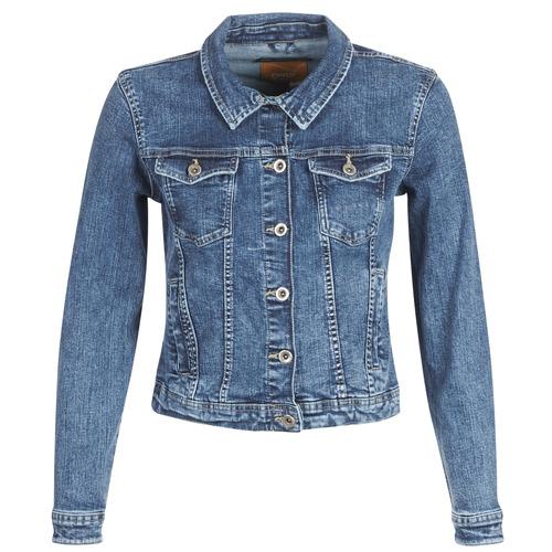 Textil Mulher casacos de ganga Only ONLTIA Azul