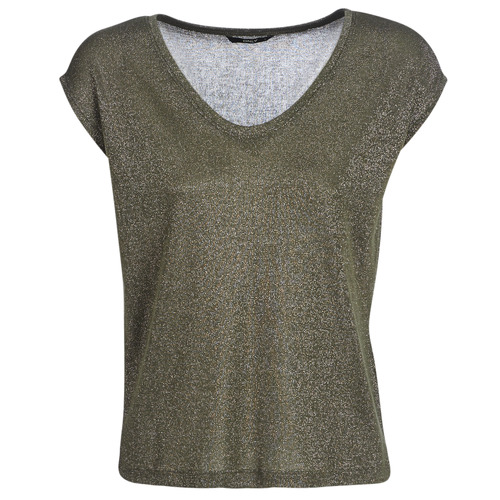 Textil Mulher T-Shirt mangas curtas Only ONLSILVERY Cáqui