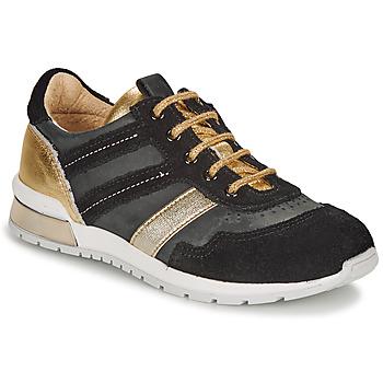 Sapatos Rapariga Sapatilhas Catimini CAMELINE Preto / Ouro