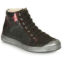 Sapatos Rapariga Sapatilhas de cano-alto GBB ORENGETTE Preto / Prata