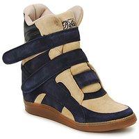 Sapatos Mulher Sapatilhas de cano-alto Buffalo GINGERWA Marinho / Bege