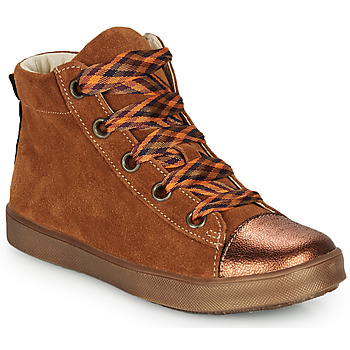 Sapatos Rapariga Sapatilhas de cano-alto GBB OUSTILLE Conhaque