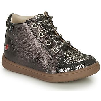 Sapatos Rapariga Sapatilhas de cano-alto GBB FAMIA Cinza / Prata