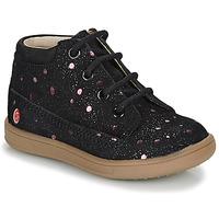 Sapatos Rapariga Botas baixas GBB NINON Preto / Rosa