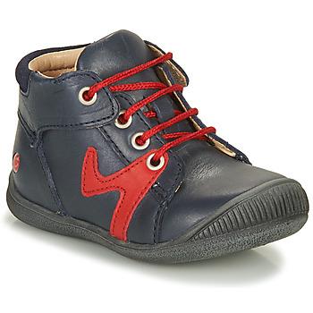 Sapatos Rapaz Botas baixas GBB OVELO Marinho / Vermelho