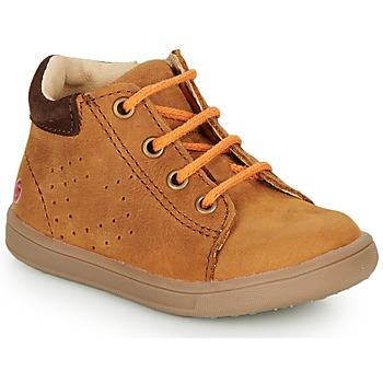Sapatos Rapaz Sapatilhas de cano-alto GBB FOLLIO Conhaque