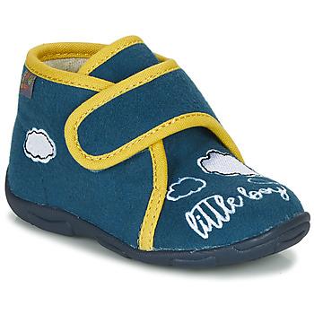 Sapatos Rapaz Chinelos GBB OKANDI Azul / Amarelo