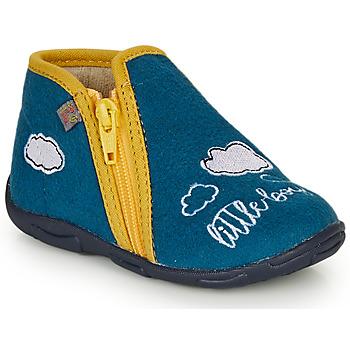Sapatos Rapaz Chinelos GBB OUBIRO Azul / Amarelo