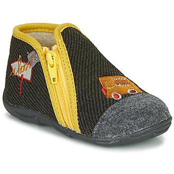 Sapatos Rapaz Chinelos GBB OUBIRO Preto / Cinza