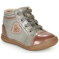 Sapatos Rapariga Sapatilhas de cano-alto GBB OTANA Cinza / Rosa