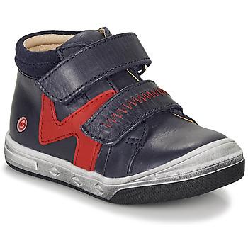 Sapatos Rapaz Sapatilhas de cano-alto GBB OGROU Azul / Vermelho