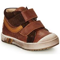 Sapatos Rapaz Sapatilhas de cano-alto GBB OMALLO Castanho